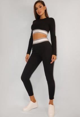 Missguided Black Waistband Loungewear Leggings