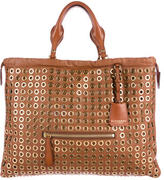 Burberry Grommet Leather Tote