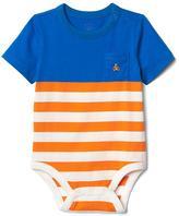 Stripe pocket bodysuit