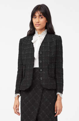Rebecca Taylor Tailored Textured Tweed Jacket