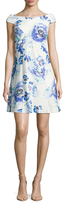 Rachel Roy Printed Fit And Flare Dress