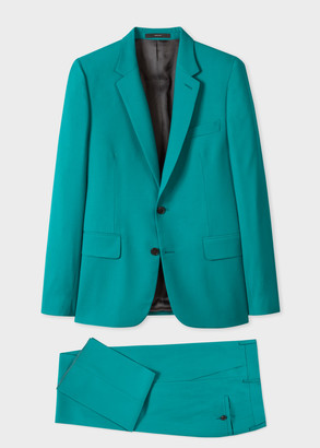 Paul Smith The Soho - Tailored-Fit Water Green Wool-Mohair Suit