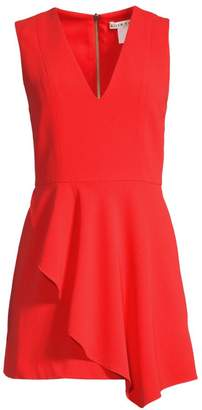 Alice + Olivia Callie Sleeveless Asymmetric Overlay A-line Dress