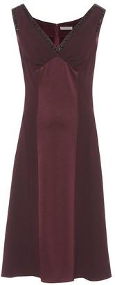 Bottega Veneta Sleeveless satin and crepe dress