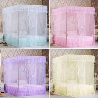 Kadell Luxury Princess Style Four Corner Post Mosquito Net Elegant Bed Netting Curtain Panel Bedding Canopy Queen King Sizes Multicolors