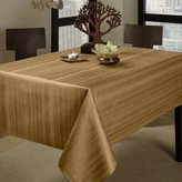 """Benson Mills Flow Heavy Weight """"Spillproof"""" 60-Inch by 84-Inch Fabric Tablecloth, Taupe"""