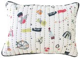 Pehr Designs Big Top Quilted Pillow - Blue