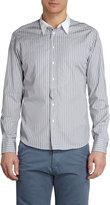 Barneys New York Striped Contrast Collar Shirt