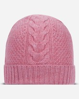 N.Peal Cable Cashmere Hat