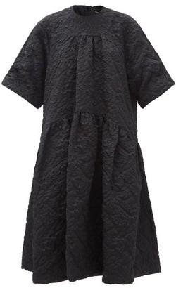 Simone Rocha Oversized Cloque Midi Dress - Black