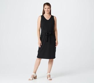 Belle By Kim Gravel TripleLuxe Knit Tie-Front Midi Dress