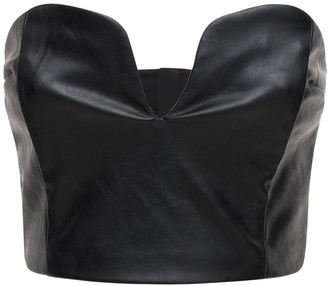 Designers Remix Marie Faux Leather Corset Top