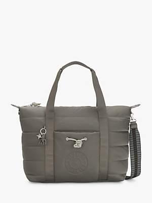 Kipling Puff Art Medium Tote Bag, Mountain Grey