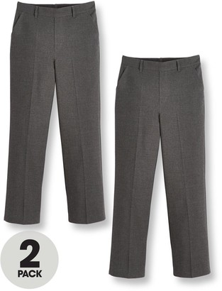 Very Boys 2 PackPull On School Trousers - Grey