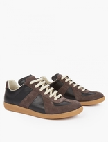 Maison Margiela Leather and Suede Replica Sneakers