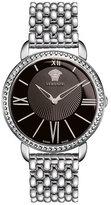 Versace 38mm Krios Round Bracelet Watch, Black
