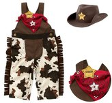 StylesILove.com StylesILove Baby Boy Sheriff Cowboy Overalls, Hat and Handkerchief 3-pc (12-18 Months)
