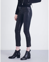 J Brand Lace-up skinny stretch-leather trousers