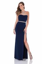 Terani Couture Bejeweled Halter Neck Sheath Dress 1615P1297B