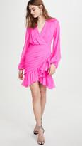 Giambattista Valli V Neck Asymmetrical Mini Dress