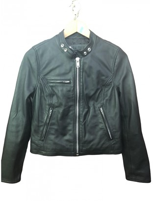 Schott Black Leather Leather jackets
