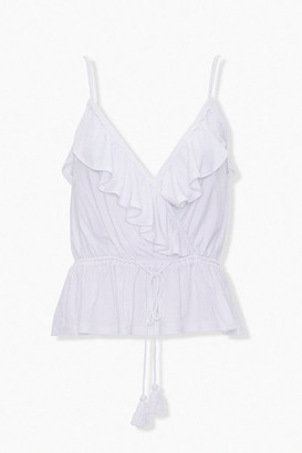 Forever 21 Surplice Ruffle Top