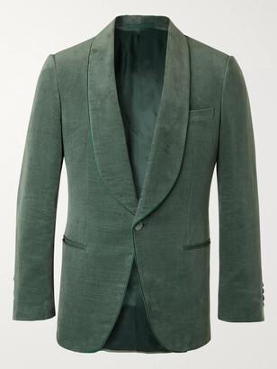 Kingsman Slim-Fit Cotton And Linen-Blend Velvet Tuxedo Jacket