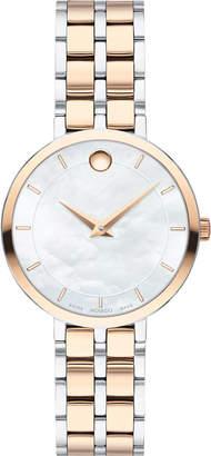 Movado Kora Mother-of-Pearl Bracelet Watch, Carnation/Steel