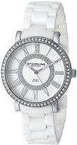 Stuhrling Original Women's 630.02 Orchestra Swarovski Crystal-Accented Watch with White Ceramic Band