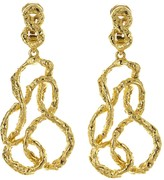 Oscar de la Renta Entangled Metal Earrings