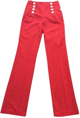 Zara Orange Cloth Trousers for Women
