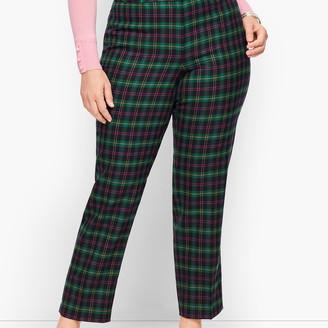 Talbots Plus Size Hampshire Pants Tartan