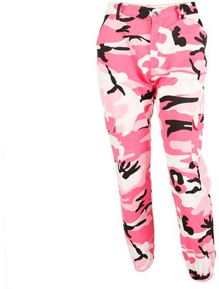 Toamen Women's Fashion Casual Pants Newest Women Girls Camouflage Printed Sports Camo Cargo Pants Outdoor Casual Trousers Jeans