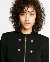 Express Embellished Zip Front Military Jacket