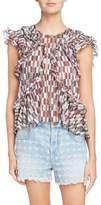 Etoile Isabel Marant Nalou Print Cotton Top