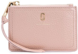 Marc Jacobs The Softshot pearlized top-zip wallet