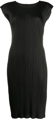 Pleats Please Issey Miyake Micro-Pleat Midi Dress