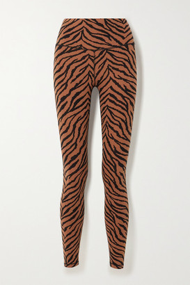 Varley Century Zebra-print Stretch Leggings - Brown