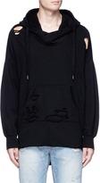NSF 'Jay' step hem distressed hoodie