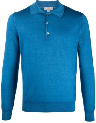 Canali long sleeve polo shirt