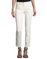 Brunello Cucinelli Five-Pocket Skinny Jeans, Off White