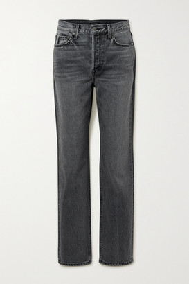 GRLFRND Mica High-rise Straight-leg Jeans - Gray