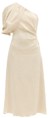 Johanna Ortiz Removable-sleeve Cotton-cloque Dress - Cream