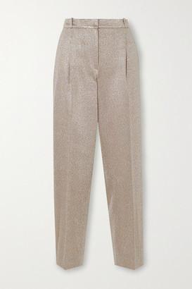 Missoni Metallic Knitted Straight-leg Pants - Beige
