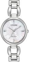 Citizen Women's L Collection Stainless Steel Bracelet Watch 28x30mm EM0420-54D