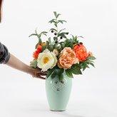 Moge vase American retro lue porcelain vase/simulation flower retro home ceramic flower decoration