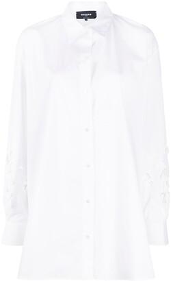 Rochas Floral Applique Shirt