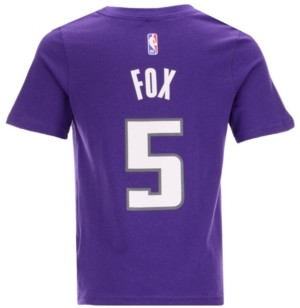 Outerstuff Nike DeAaron Fox Sacramento Kings Replica Name and Number T-Shirt, Little Boys (4-7)