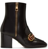 Gucci Black Peyton Logo Boots