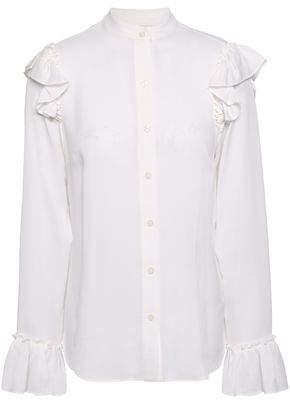 MICHAEL Michael Kors Ruffle-trimmed Silk Blouse